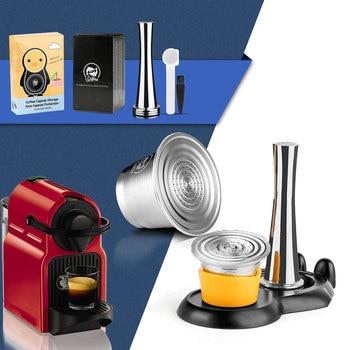 iCafilas Refillable Coffee Capsules Reusable Pods Compatible With Nespresso Inissia capsula nespresso reutilizable