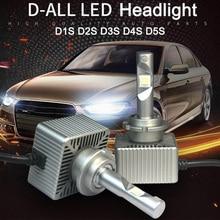 2PCS New D1S D2S D4S D5S D1C D3R LED Car Bulb Chips Auto Led Headlamp Fog Light Bulbs 6000K Light LED Lens 70W 8400lm цена