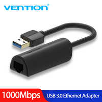 Vention USB Ethernet Adapter USB 3.0 to RJ45 Network Card High Speed 10M/100M/1000M Lan Adapter for Windows Mac Ethernet USB Adapter