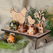 2 sztuk pulpit drewna rzemiosła przyjęcie wielkanocne kolorowe podstawka na jajka wystrój ozdoba z drewna (kurczak styl i styl liter) tanie tanio CN (pochodzenie) Easter Wooden Ornament Eater Wood Craft Wooden Craft Wooden Decor Wood Easter Egg Holder