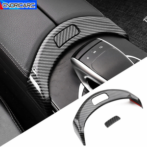 Car Styling Center Console Armrest Box Buttons Frame Decoration Sticker Trim For Mercedes Benz C Class W205 GLC X253 2015-2020