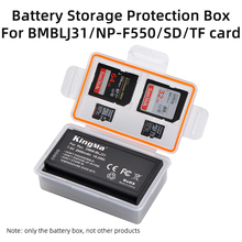 KingMa 10PCS DMW BLJ31 Battery Plastic Case Holder Storage Box for Panasonic Camera Lumix DC S1 S1R S1H Battery Protection Case