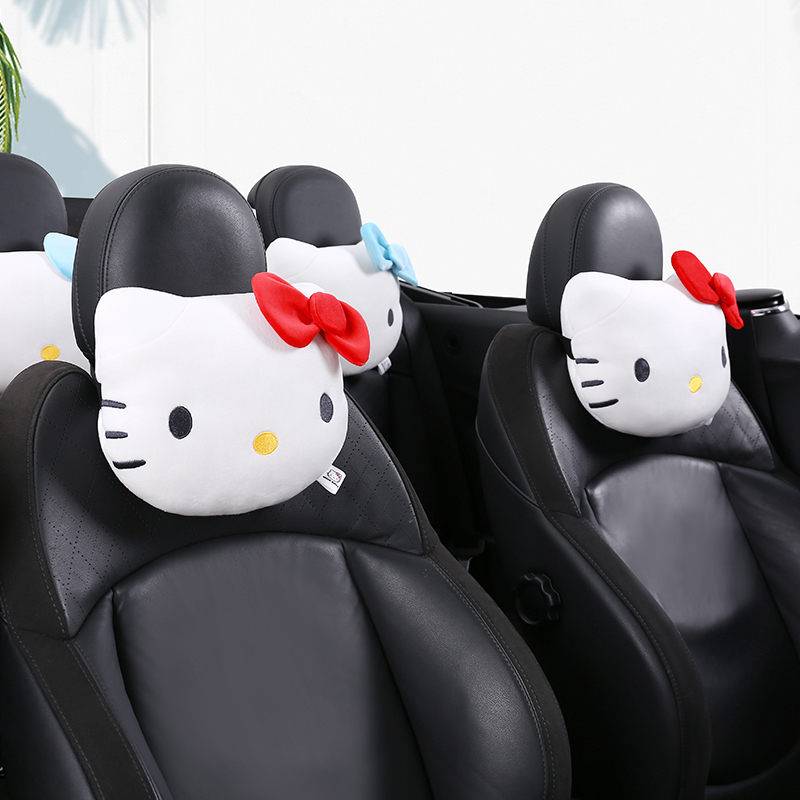 Car Neck Pillow Rest Cushion Kitty Cat Auto Car Neck Pillow Seat Head Pillow Car Headrest Support Rest Cushion Car Accessories