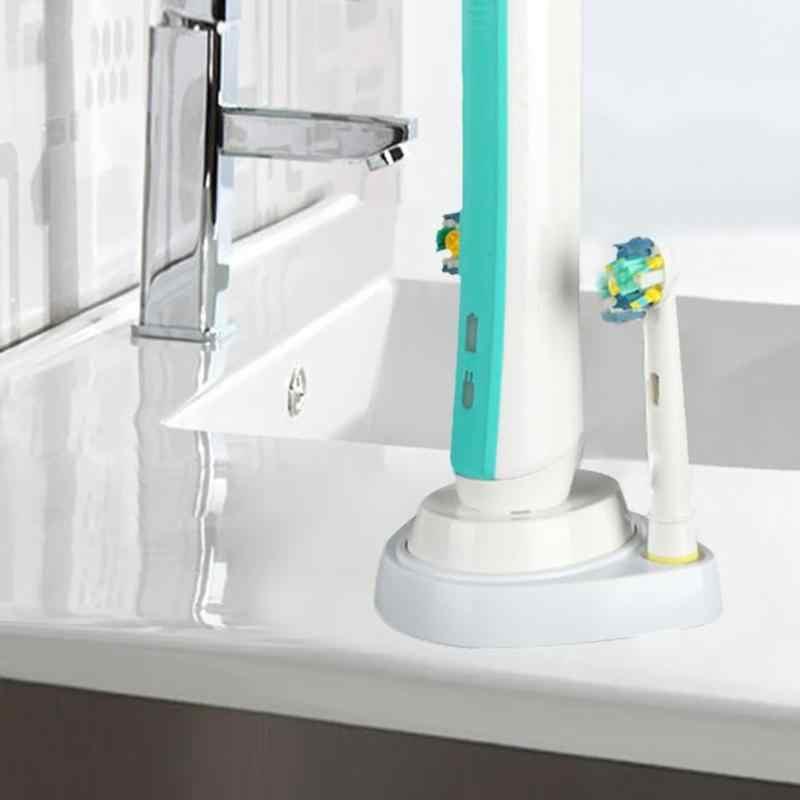 Elektryczna szczoteczka do zębów uchwyt do przechowywania organizator stojak z tworzywa sztucznego szczoteczka do zębów zagłówek uchwyt z otwór do ładowania do Oral B