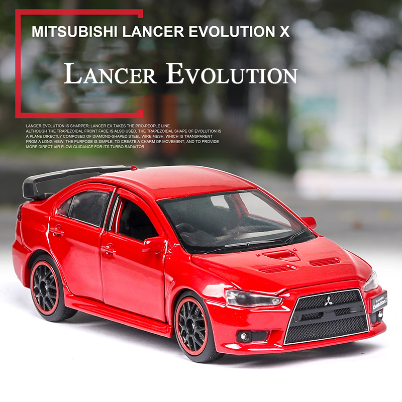 1:32 Mitsubishi EVO Lancer Evolution Vehicle Toy Alloy Diecast & Toy Car Model Toys Cars For Children Kids Birthday Xmas Gifts