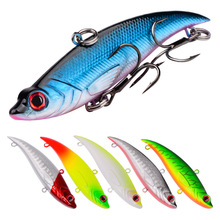 1pcs Sinking VIB Fishing Lure Minnow artificial bait Vibration Winter ice Full Swimming Layer Hard Bait bass 7.4cm 13g