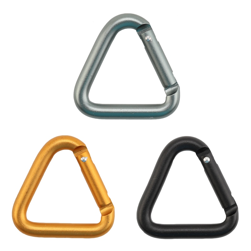 Multi-function Aluminium Alloy Triangle Carabiner Outdoor Camping Hiking Keychain Snap Clip Hook Kettle Buckle Carabiner