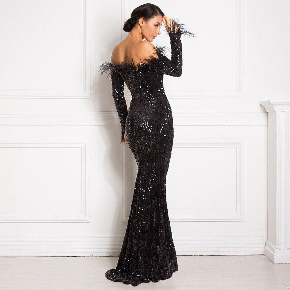 Burgundy Shiny Sequin Feather Velvet Party Dress