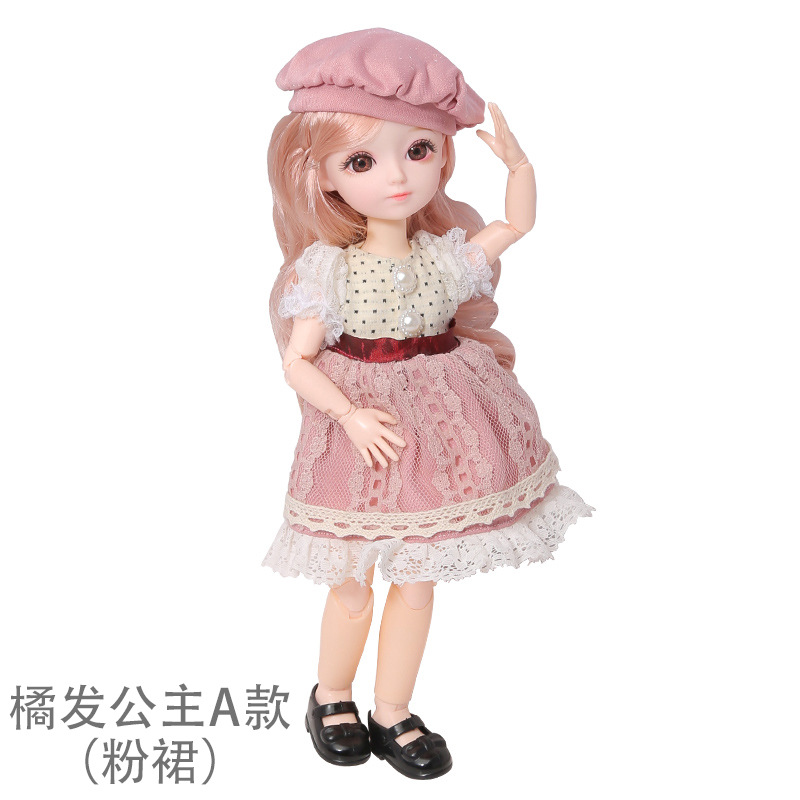 16cm/31cm Bjd Doll 12 Moveable Joints 1/12 Girls Dress 3D Eyes Toy with Clothes Shoes Kids Toys for Girls Children Birthday Gift 10
