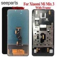 مجموعة محول رقمي لشاشة لمس LCD من نوع TFT لـ شاومي Mi Mix 3 مع إطار 6.19 بوصة وشاشة عرض زجاجية MI Mix3 LCD