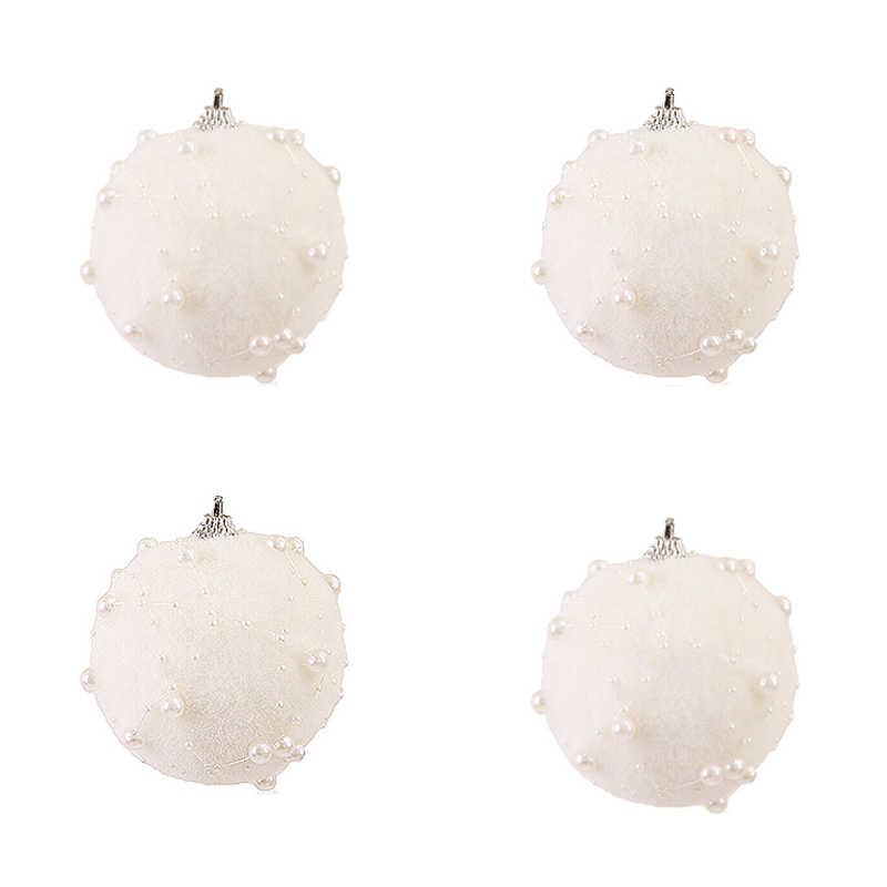 7/8 Cm Merry Christmas Rhinestone Glitter Pernak-pernik Pohon Dekorasi untuk Rumah Xmas Pohon Gantung Busa Bola Ornamen