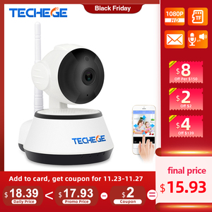 Image 1 - Techege 1080p hd câmera ip sem fio wifi 2mp com fio de vigilância vídeo visão noturna câmera segurança em casa rede interior yoosee