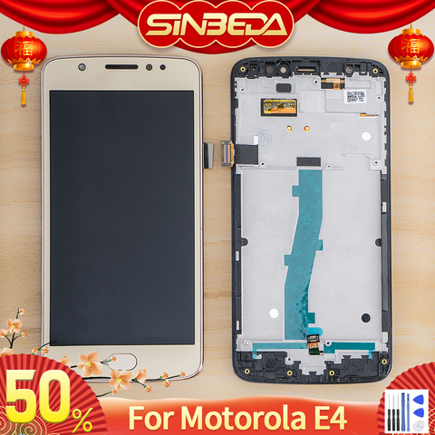 Sinbeda 5.0'LCD For Motorola Moto E4 LCD Display Touch Screen Digitizer Assembly For Moto E4 XT1762 XT1763 XT1766 LCD Replaceme Pakistan