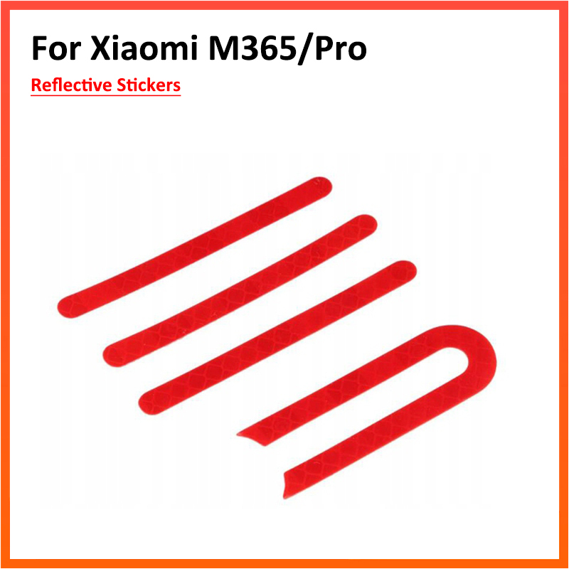 Reflective Sticker For Xiaomi Mijia M365 Electric Scooter Front Rear Wheel Tyre Cover Protective Shell Skateboard Parts