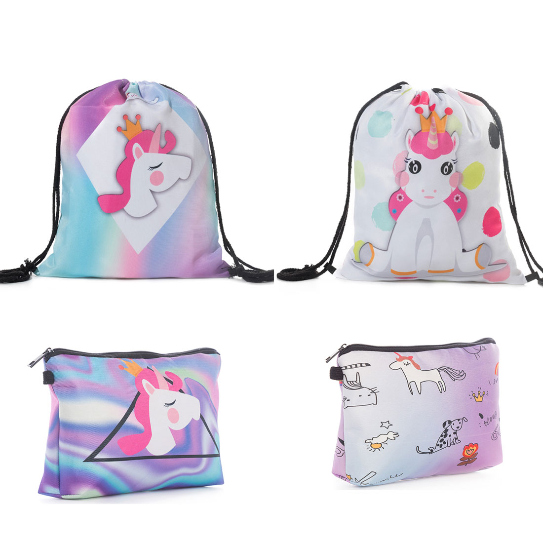 Child Gift Bags Small Cute Bags Cute Cartoon Printed Birthday Party Gift Bags Cheap Dropshipping String Drawstring Backpack