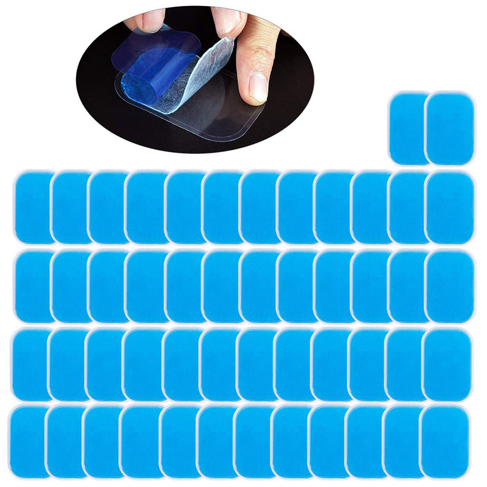 50PCS EMS Gel Pads Replacement Pads ABS Abdominal Stimulator Accessories Ab Trainer Muscle Toner Toning Belt Gel Sheets