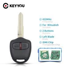 KEYYOU For Mitsubishi Outlander Pajero Triton ASX Lancer Shogun MIT8 MIT11 Blade 2 3 Buttons Car Remote Key 433Mhz ID 46 Chip