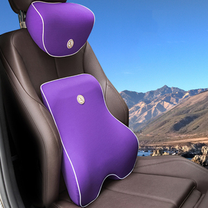 Image 3 - Comfort Car Pillow Long Drive Car Seat Cushion Lumbar Support Back Pain Pillow Memory Foam Massage Breathable Seat Support