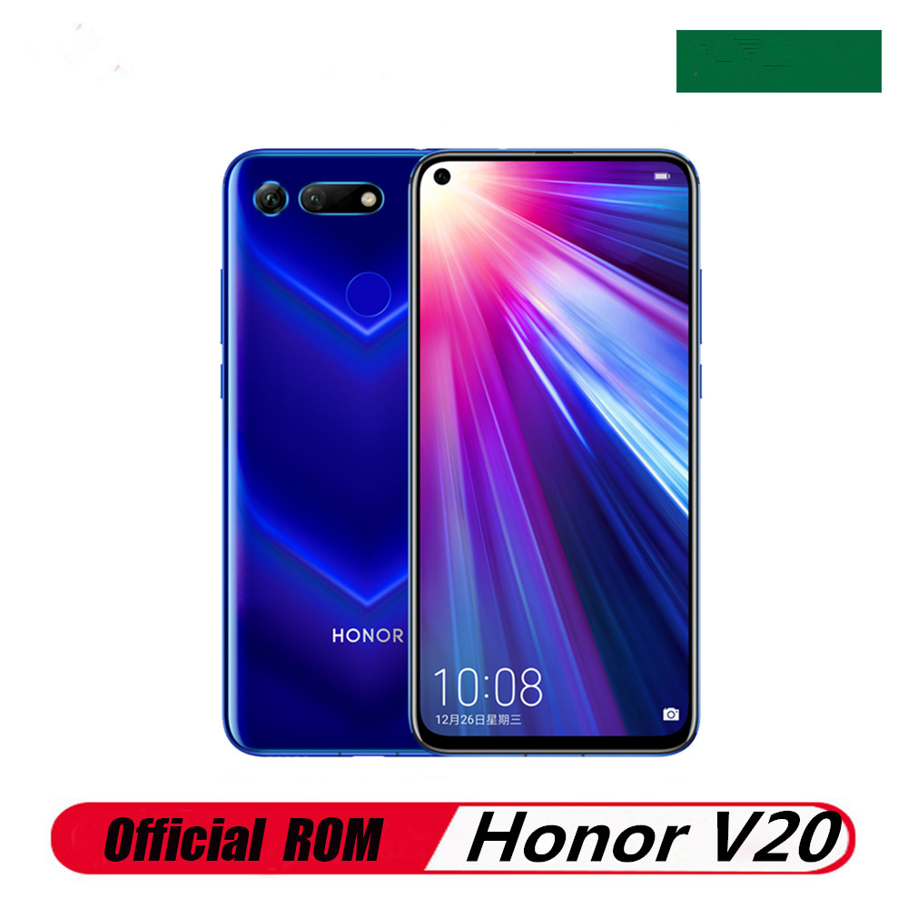 Международная версия Honor V20 Honor вид 20 PCT-L29 мобильный телефон 48.0MP + 25.0MP Kirin 980 6 ГБ Оперативная память 128 Гб Встроенная память 6,4
