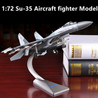 Model toys 1:72 Scale Sukhoi Su 35 Flanker E / Super Flanker Fighter Diecast Metal alloy Military Plane Model toy For Collection