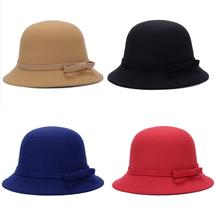 4 Color Autumn And Winter Fashion Retro Ladies And Women's Dome Felt Wool Fedora