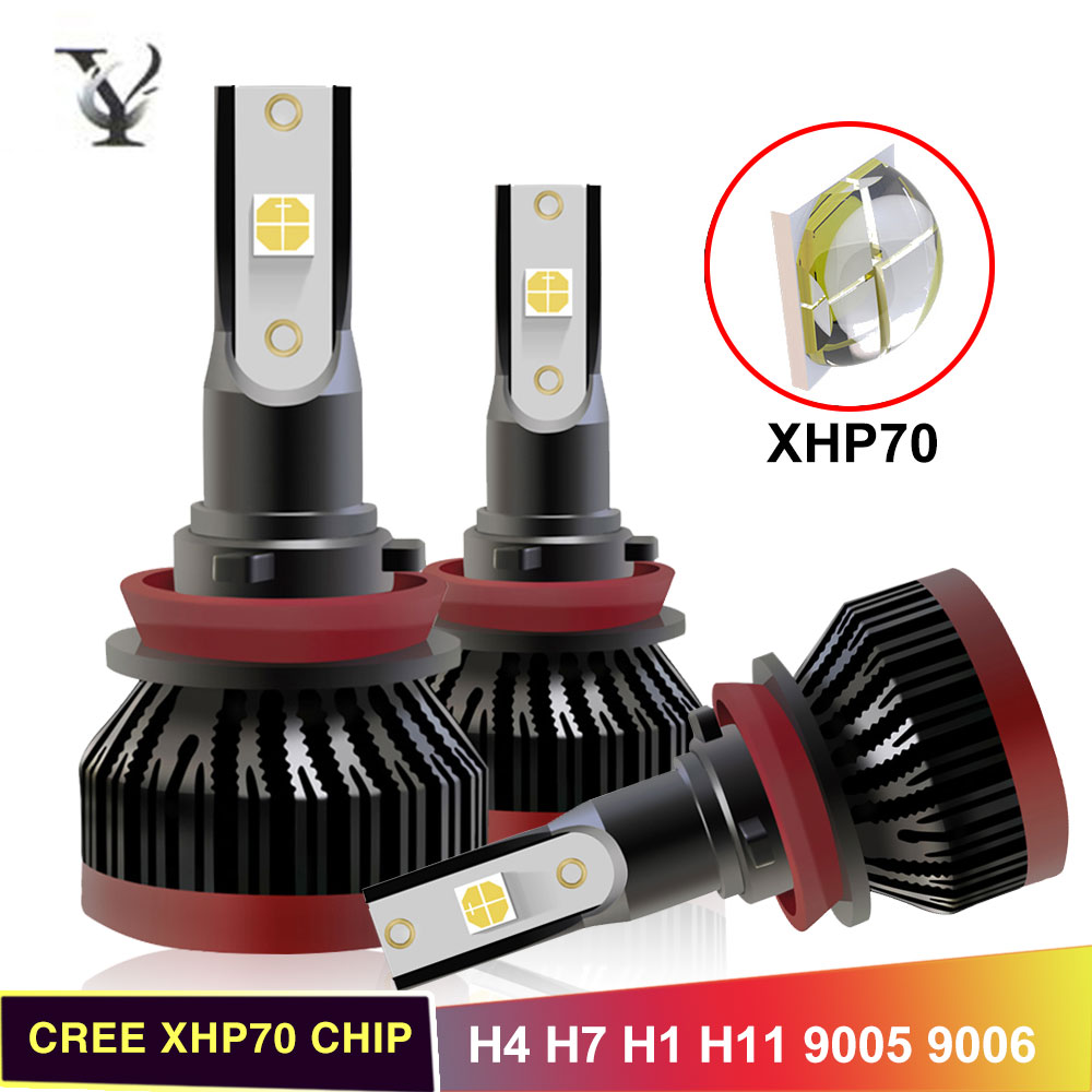 72W H11 H7 Led Headlight Bulbs H4 Hi-Lo Beam H1 9005 HB3 9006 HB4 9012 Canbus Auto Headlamp Bulb CREE XHP70 Chip Super Bright