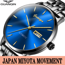 GUANQIN Business Automatic watches Men Mechanical Wristwatch Japan Movement Male Clock Waterproof Week Date Men Watches casima automatic mechanical watches men business dress classical charm men s watch waterproof quartz movement 100m 8804