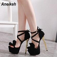 Aneikeh 2020 Summer Sexy Flower Platforms Gladiator Sandals Shoes