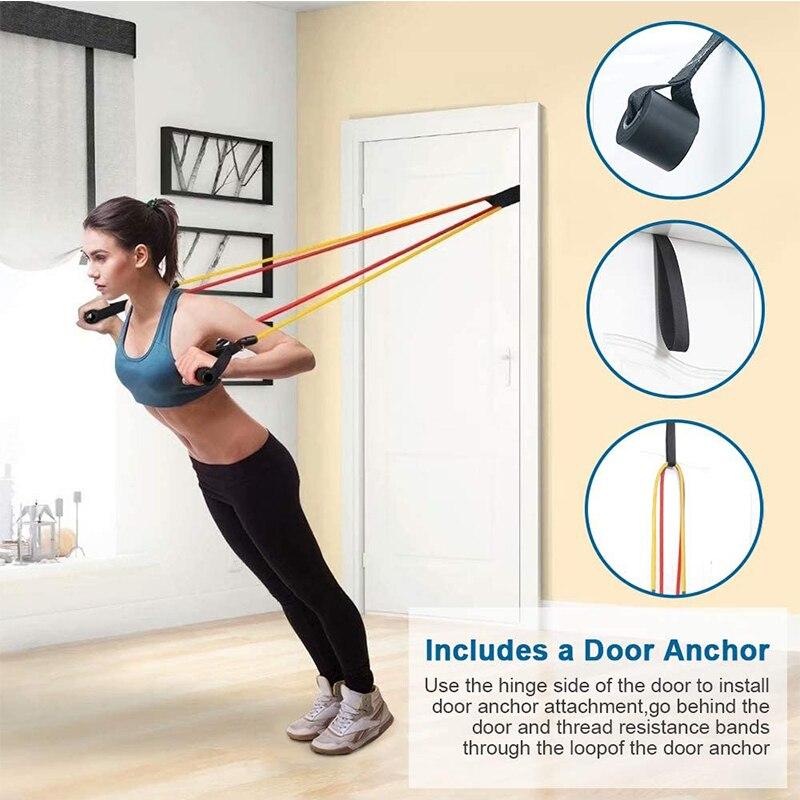 Комплект эспандеров 17 шт., эластичная резиновая лента для упражнений для фитнеса, домашних тренировок, спортзалов и тренировок-3