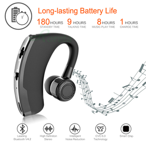 Image 3 - Roreta V9 Wireless Bluetooth Earphone Noise Control Business Wireless Bluetooth Headset With Mic Sports Earbuds Gaming Headset