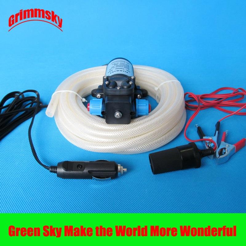 6L/Min dc 70W avec bouton marche/arrêt et dc jack kits montés sur véhicule extracteur de pompe à huile 12v