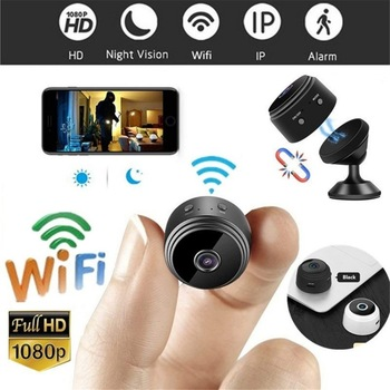A9 Mini Full-HD 1080P Small Wifi Camera Wifi IP Mini Camera IR Night Vision Micro Camera Motion Detection Camera Support TF Card 1