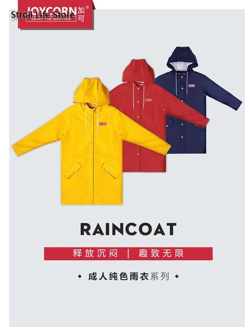 Couple's Women Raincoat Jacket Long Body Men's Outdoor Hiking Yellow Long Rain Coat Poncho Windbreaker Women Capa De Chuva Gift 3
