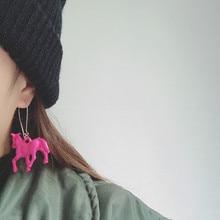 Vintage punk Harajuku style cute Japanese girl pony earrings
