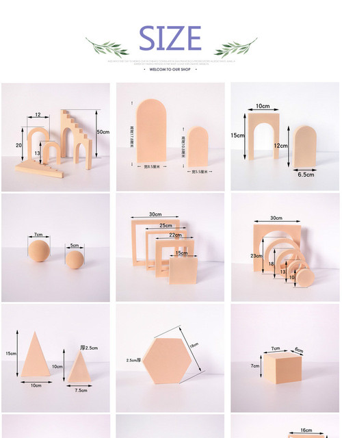 Solid Color Photography Photo Background Props Foam Geometric Cube Table Shooting for Photographic Posing Ornaments Backdrops 6