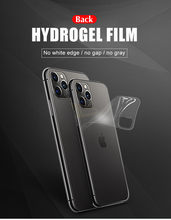 100pcs Back Protective Hydrogel Film Cover For IPhone 11 Pro 6 6s 8 7 Plus XR X XS Max Full Screen Protector Soft Film(China)