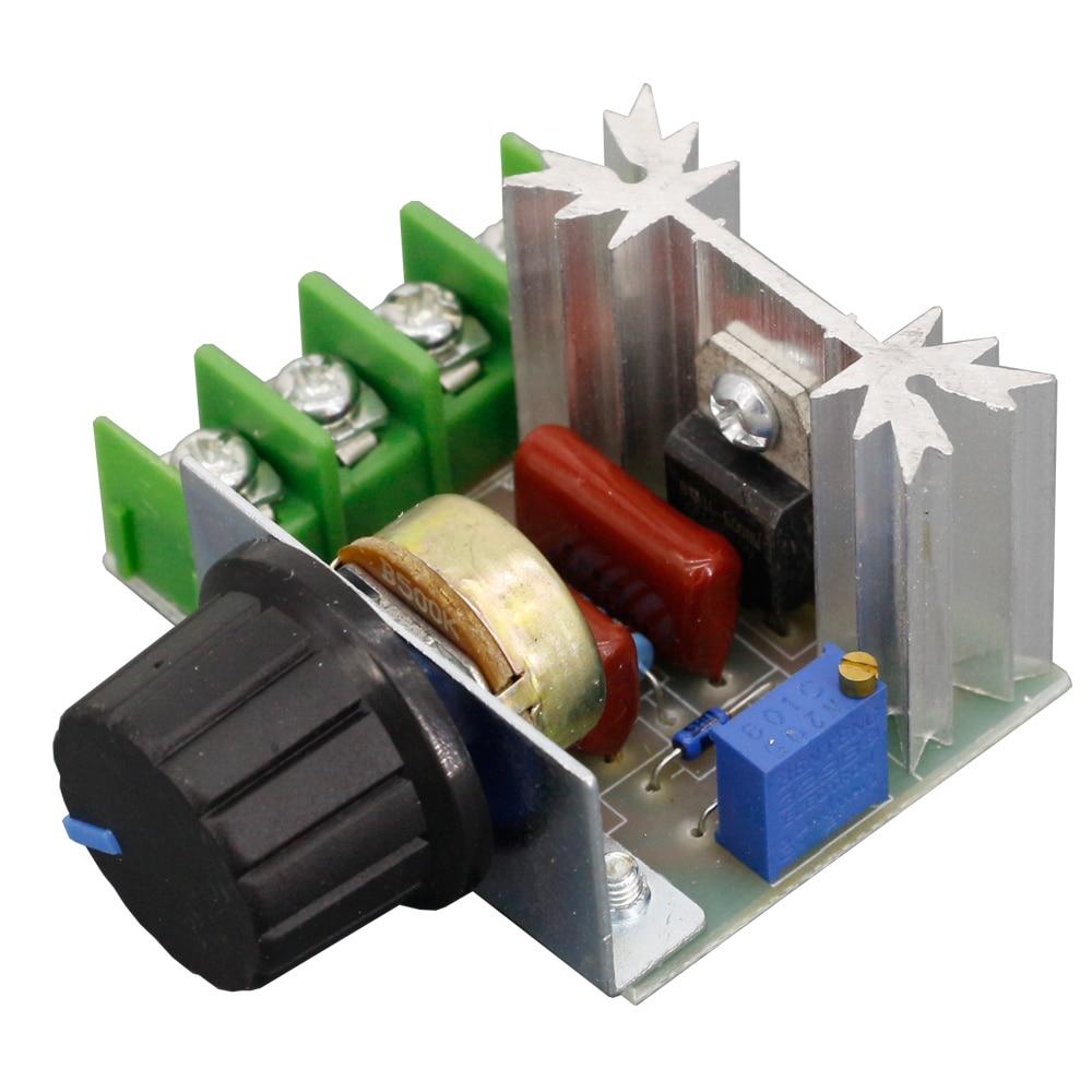 AC 220V 2000W Voltage Regulator Scr Dimming Dimmers Motor Speed Controller Thermostat Voltage Regulator