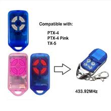 Controlador remoto da porta da garagem de 4 botões do transmissor 433.92 mhz para ptx4