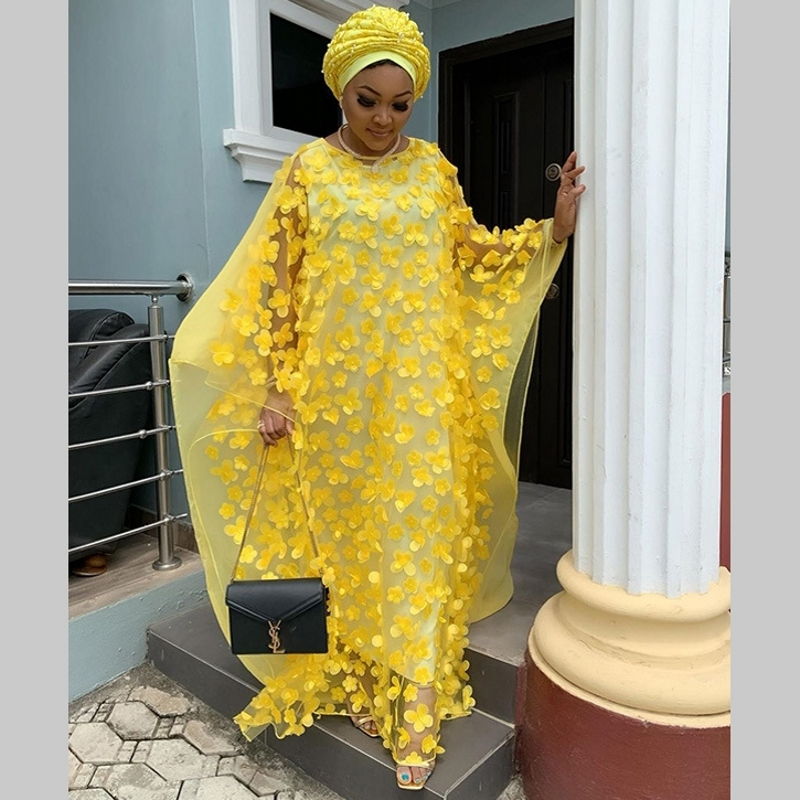 No Headscarf Super Size New African Women's Dashiki Fashion Loose Embroidery Long Dress African Dress For Women African Clothes