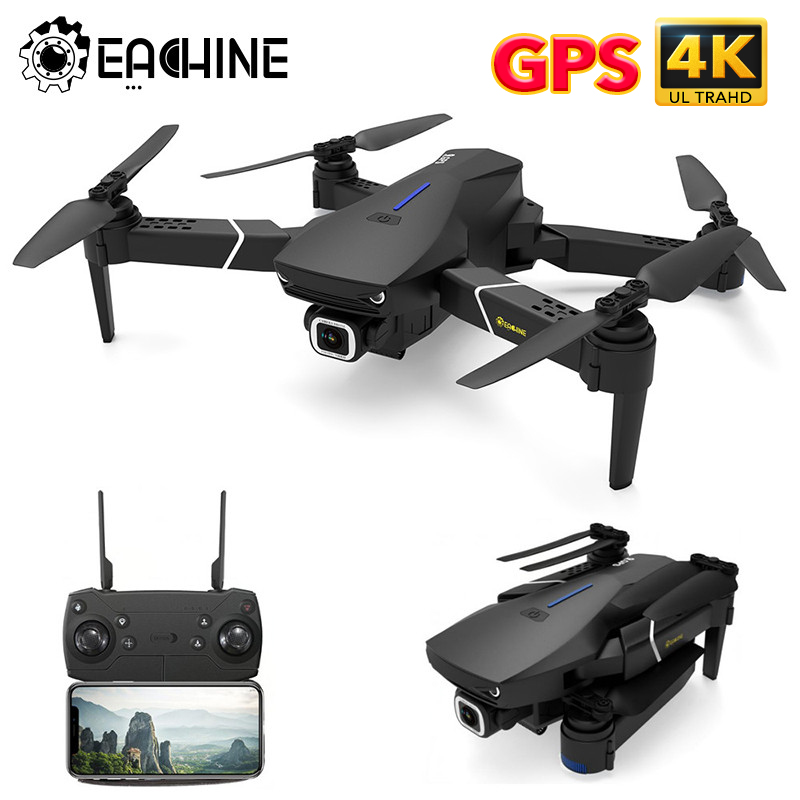 Eachine Camera Drones E520S Foldable Wide-Angle 4K/1080P WIFI FPV GPS with HD Wide-angle/Camera/16mins/Flight-time title=