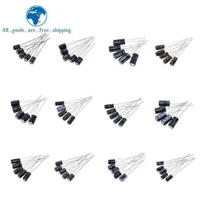 120pcs 1set of 120pcs 12 values 0.22UF-470UF Aluminum electrolytic capacitor assortment kit set pack 2