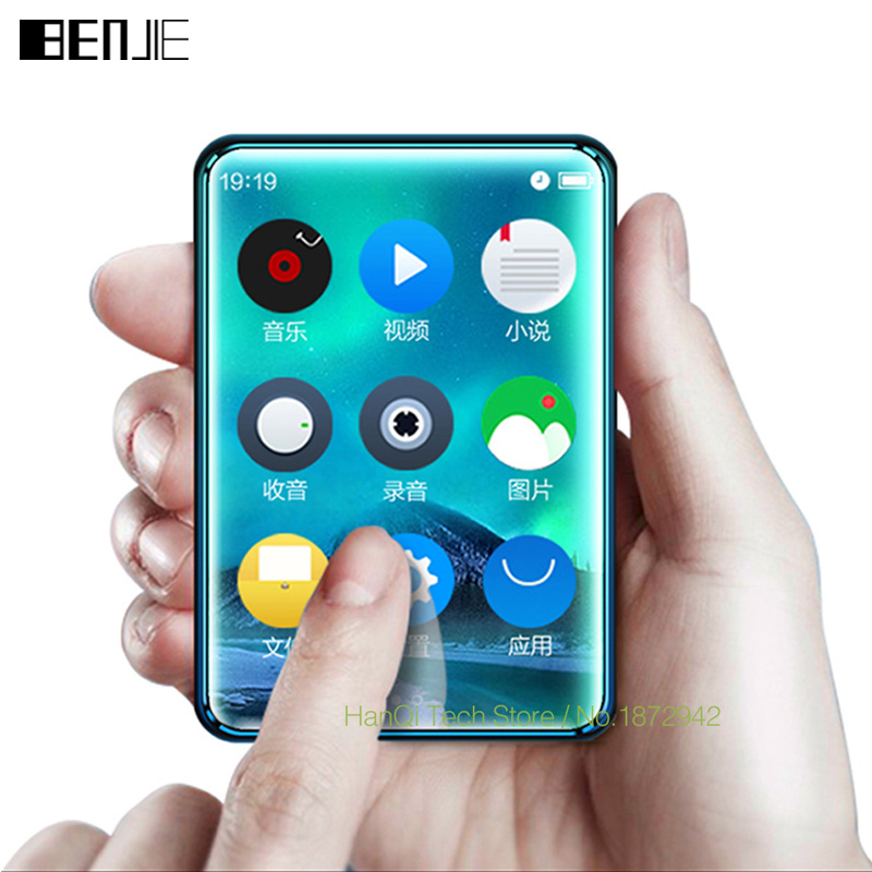 BENJIE X6 Full Touch Screen MP3 Player 4GB 8GB Music Player With FM Radio Video Player E-book Player MP3 With Built-in Speaker
