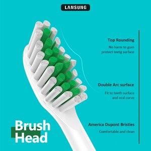 Image 2 - Lansung השעיה מגנטי מברשת שיניים חשמליות קולי מברשת שיניים 5 מצבי סוניק מברשת שיניים חשמלי נטענת ML918