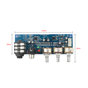 Image 5 - ميكروفون أحادي القناة ومقبس صوت ثنائي القناة ، ومضخم صوت ثنائي القناة ، وتعديل ثلاثي القوائم EQ Bass
