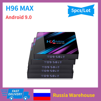 5pc H96 MAX Smart Android 9.0 TV Box RK3318 2.4G/5G Wifi Set Top Box Google Voice Youtube 4K Media Player 4G RAM 64GB ROM H96Max h96 max rk3318 chip 9 0 4k dual wifi 5g tv box top box google player tanix set wifi youtube quad core set top boxs wifi android