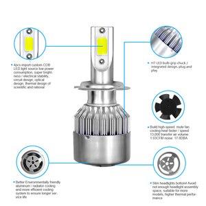 Image 5 - 2PCS H7 H11 H1 H3 COB Car LED Headlight Bulbs H4 Hi Lo Beam 72W 8000LM 6000K Auto Headlamp 9005 HB3 9006 HB4 880 Led Car Light