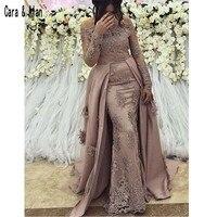 Modest Arabic Long Sleeve Evening Dresses Prom Gown 2019 Elegant Women Formal Gala Plus Size Party Dress