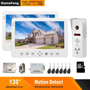 Image 1 - HomeFong 10 inch Video Door Phone Wired Video Intercom for Home Monitor  Doorbell Camera  Support Motion Detection Electric Lock