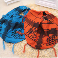1 Pcs Pet Dog Blue Orange Cotton Bandana Triangle Scarf Tassel Lace-up Saliva Towel Pet Dog Bib Accessories