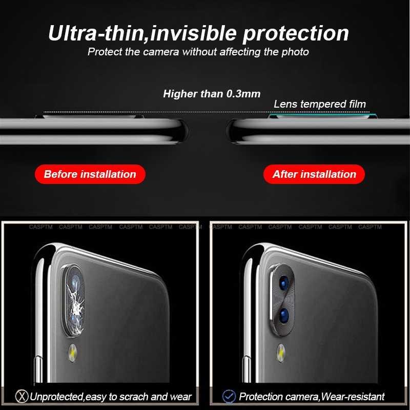 Proteção armadura traseira da câmera lente caso para xiaomi redmi nota 7 alumínio colorido len câmera capa protetora para redmi note7 pro